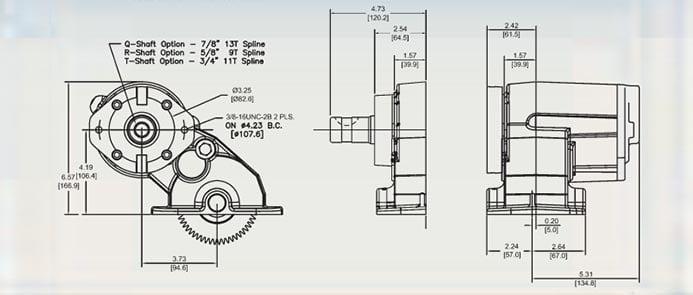 Muncie FR63 dimensioner